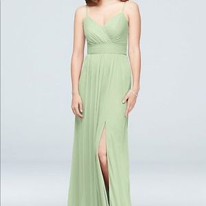 David's Bridal - Spaghetti Strap Bridesmaid Dress